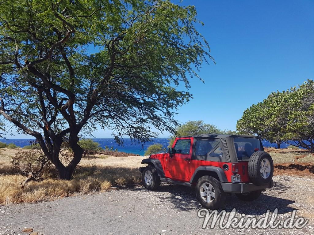 Big Island Lapakahi State Histroical Park Jeep