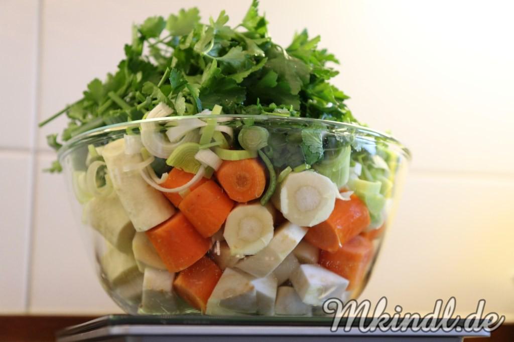 Gemüsewürze, Rezept, Gemüsebrühe